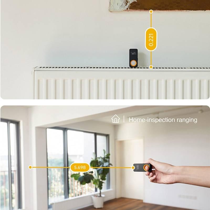 HOTO Laser Tape Measure, Smart Laser Rangefinder, Intelligent, 30M, OLED Display, Laser Distance Meter, Connect To Mobile Phone Lighting Gadgets